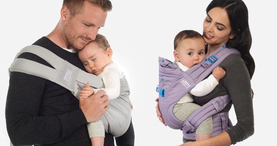 product photography baby carrier mom dad